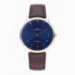 LAYER ALL SS 40MM BLUE /BROWN LEAT STRAP
